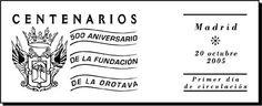 Matasellos conmemorativo del Quinto Centenario de la Fundación del Municipio de La Orotava. Tenerife, Islas Canarias.