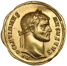 Ancient Gold Coins - Roman Imperial / DIOCLETIAN, (A. gold aureus, issued Antioch and Cyzicus mints, g).Click VISIT to see Gold Coins at MAD On Collections. Please feel free to pin or share this coin. Ancient Roman Coins, Ancient Romans, Artemis, Ancient Artefacts, Coin Art, Roman History, Antique Coins, Gold Bullion, Ancient Jewelry