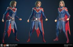 Early version of Supergirl. Head is from a head scan which was then re-sculpted to fit the game's style. I had the privilege of working at NetherRealm on the early stages of Injustice This version is not found in the current game but was featured Injustice 2 Supergirl, Injustice 2 Comic, Injustice Game, Superman Family, Batman And Superman, Bruce Timm, Justice League, Dc Comic Costumes, Super Hero Costumes