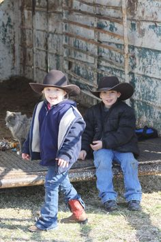 Cowboy kids......these two just happen to be mine lol
