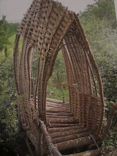foot bridge Tiebele, Burkina Faso, West Africa What a beautiful work of art as well as being practical.