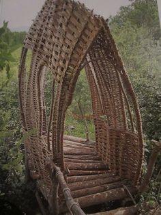 foot bridge Tiebele, Burkina Faso, West Africa What a beautiful work of art as well as being practical.