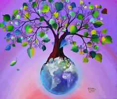 Alejandro Costas.  The meaning is: the earth are roots of a big tree !! الأرض ما هي إلا جذور لشجرة عظيمة !!