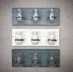Mason Jar Holder, Mason Jar Storage, Mason Jar Organizer, Mason Jar Shelf, Hanging Mason Jars, Mason Jar Crafts, Mason Jar Diy, Toothbrush Storage, Toothbrush Holder