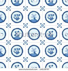 Dutch Delft Blue tiles pattern | Delfts Blauw patroon | by Julia Henze