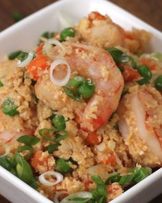 "Shrimp And Cauliflower ""Fried Rice"" 