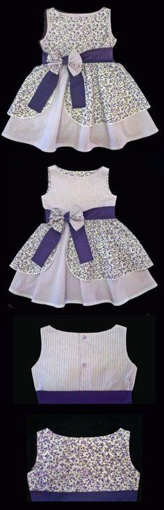 58 Super Ideas Dress Pattern Toddler Free For Girls Frocks For Girls, Kids Frocks, Little Dresses, Little Girl Dresses, Vintage Girls Dresses, Toddler Dress Patterns, Frock Patterns, Girl Dress Patterns, Pattern Dress