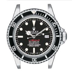 """Rare and particular this Sea-Dweller with """"Rail"""" dial (Mark 2) personalized for Hafiz al-Asad, first the General of the Syrian Military Aviation, and then President of Syria from 1971 to 2000 when he died.  http://www.mondanionline.com/collecting_rolex_submariner-16.php"""