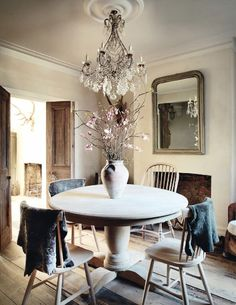 bleached wood   dining   elle decoration