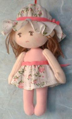 Basic minature doll with pattern & instructions