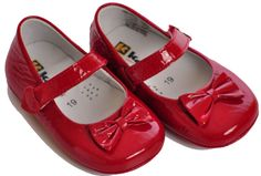 Kone Shoes Patent Leather Bow Shoes in  Red $29.00