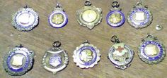 January 5th - 10AM. 10 AMateur winners football medals won by Gangad! This is just a selection, he had plenty more. He left them all to me.