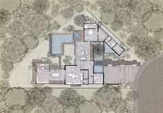 Image 14 of 25 from gallery of Kaleth House / Di Frenna Arquitectos. Photograph by Oscar Hernández Architecture Visualization, Modern Architecture, Sketch Architecture, Steel Columns, Graduation Project, Ground Floor Plan, Building Plans, Modern House Design, Home Interior Design