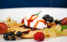 Haferflocken-Pfannkuchen mit Kokosjoghurt Pudding, Eggs, Breakfast, Desserts, Sorbet, Food, Youtube, Oatmeal Pancakes, Coconut Yogurt