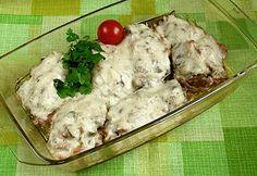 Sajtos-gombás filézett csirkecomb Cooking Recipes, Chicken, Meat, Food, Chef Recipes, Essen, Meals, Yemek, Eten
