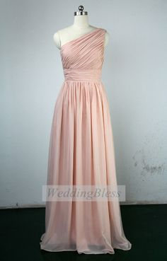 Pearl Pink Long Bridesmaid Dress on Etsy, $108.00