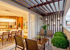 Balcones, porches y terrazas de estilo Moderno por Espaço do Traço arquitetura