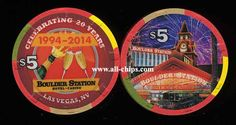 Las Vegas Casino Chip of the Day is a New $5 Boulder Station 20th Anniversary you can get here http://www.all-chips.com/ChipDetail.php?ChipID=17881