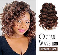 Amazon Com Ocean Wave Crochet Hair Pre Looped 9 Inch 8packs