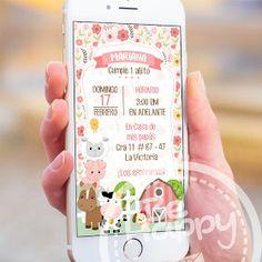 Mamá Decoradora: Kit Imprimible La Granja Niña Descarga Gratis First Year, Baby Shower, 5th Birthday, Party, Ideas, Digital Invitations, Birthday Invitations, Cow Birthday, Mermaid Parties