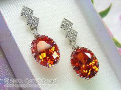 13x18mm #Orange #sapphire Gemstone 205ct Oval Cut with by candybead.