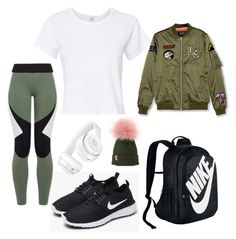 """""""Untitled #186"""" by jelennak ❤ liked on Polyvore featuring NIKE, Charli Cohen, RE/DONE, Pull&Bear and Beats by Dr. Dre"""
