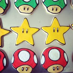 Super Mario cookies. Bird Treats on Facebook