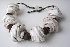 Grain of Sand - Linen necklace  www.patriziajaus.com
