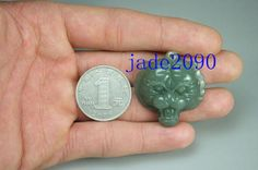Free Shipping  AAA  Green jade Good luck Hand carved by jadeGift, $28.99