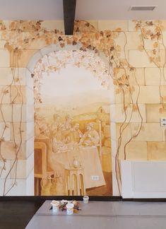 Crama Domnească. Pictură parietală decorativă.6 Ceilings, Floors, Vintage World Maps, Walls, Ceiling, Home Tiles, Flats, Floor, Flooring