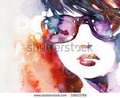 Abstract Watercolor Paintings | Abstract Watercolor Beauty Portrait Stock Photo 59623786 ...