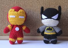 Iron Man and Batman- Crochet Amigurumi - #lemonyarncreations #crochet #amigurumi #marvel #marvelcomics #dc #dccomics #ironman #batman