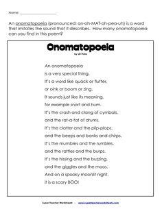 Blendspace Figurative LanguageExamples Of Onomatopoeia Poetry Love Poetry