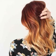 Balayage Red Highlight Hair Color on Blonde shedonteversleep…. Balayage Red Highlight Hair Color on Blonde shedonteversleep…. Red Blonde Ombre Hair, Copper Blonde Balayage, Balayage Hair Copper, Hair Color Balayage, Balayage Caramel, Copper Ombre, Blonde Honey, Caramel Highlights, Red Bayalage