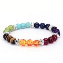 New Natural Gem/Semi Precious Stones & 7 Chakra Bracelet. Balance Your Beautiful life with this authentic 7 Chakra Natural Stone Bracelet. Yoga Armband, Chakra Armband, Bracelet Chakra, Chakra Beads, Yoga Bracelet, Chakra Crystals, Healing Bracelets, Crystal Bracelets, Bangle Bracelets