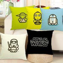 1PCS/lot Linen Cushion 43x43cm/17x17'' Decorative Home Decor Star Wars Style Almofadas Cojines Decorative(China (Mainland))