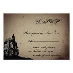 #wedding #responsecards - #Vintage Gothic House Wedding Response Card
