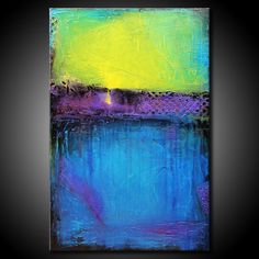 24x36 Abstract Painting MADE TO ORDER Textured Urban Modern