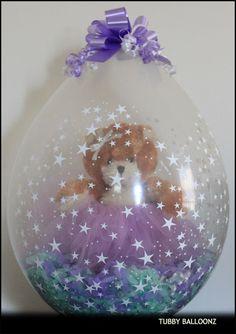 Ballerina Bear in a Tutu Balloon! www.Facebook.com/tubbyballoonz