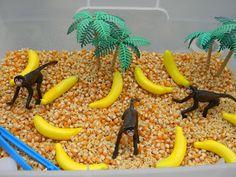 five little monkeys sensory bin idea
