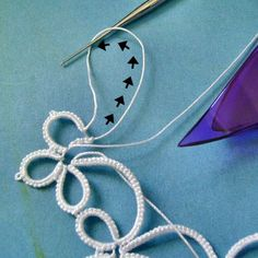 Yarnplayer's Tatting Blog: Opening a closed ring (The most frustrating thing I learned in tatting.)