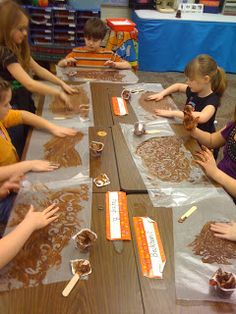 A variety of fun chocolate themed activities