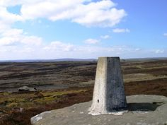 The trig point on High Crag Ridge above Nidderdale