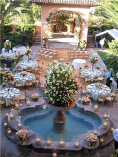 ... Cadena San Miguel de Allende Real Estate : wedding reception over pool