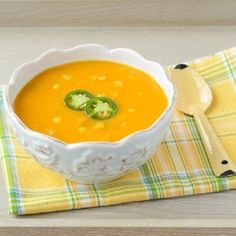 Spicy Sweet Potato and Corn Soup by reneedobbs