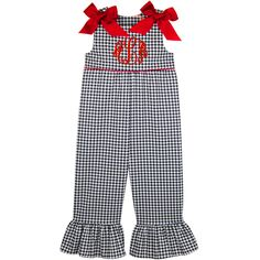 Our Rags Land Black Houndstooth Ruffle Romper! Shop NOW at www.ragsland.com