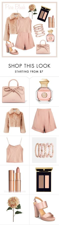 """Not That Innocent"" by lora-86 on Polyvore featuring Mansur Gavriel, Tory Burch, Miss Selfridge, Finders Keepers, Alice + Olivia, Avenue, Charlotte Tilbury, Yves Saint Laurent, Pier 1 Imports and Report"
