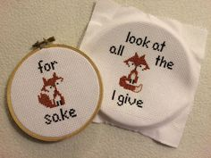 Look at all the Fox I give & For Fox Sake by JurassicStitches