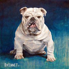 English Bulldog a custom dog portrait painting by David at Bffpetpaintings.com