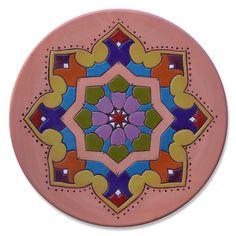 Mandala,prato decorativo,cerâmica artística,decorada | Ateliê LukaBrasil